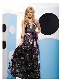 black halter prom dress