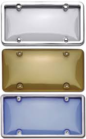 smoked license plate covers