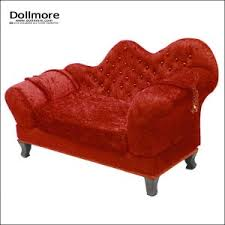 red suede couch