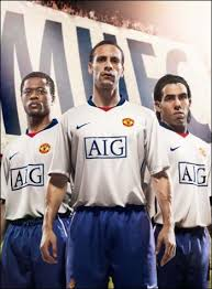 man utd away kit 08 09