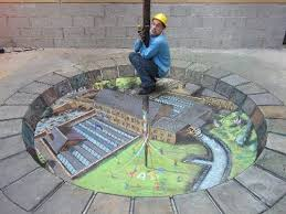 julian beever 3d chalk drawings