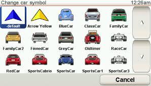 tom tom car symbol