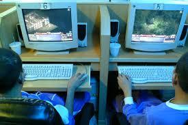 internet cafe hot