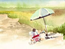 beach watercolor paintings