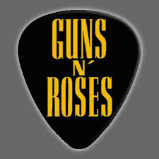 guns n roses guitar pick