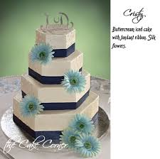 navy wedding cakes