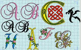 embroidered fonts