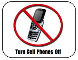no cell phone signage