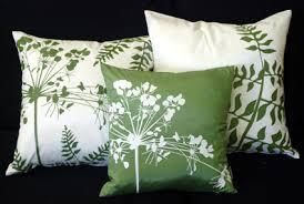 green toss pillows