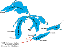 location of the great lakes