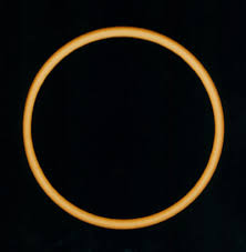 Which eclipse has a ring of light surrounding the darkened moon?