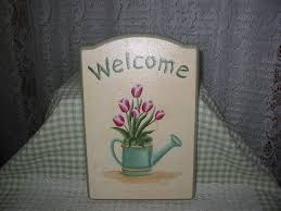 hand painted welcome signs