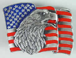 american flag belt buckles