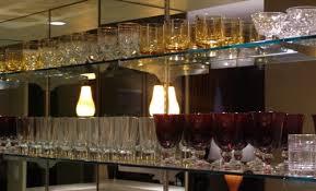 bar glass shelves