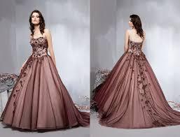 brown wedding gowns