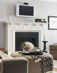 fireplace with television