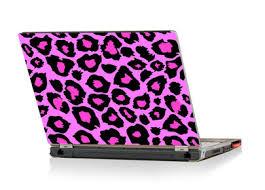 pink leopard print laptop