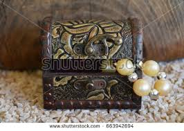 ornamental jewelry box suitcase treasure stock photo 663942925
