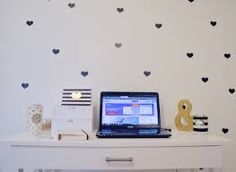 decorating with hearts black heart vinyl wall decals