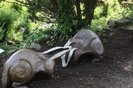 streamside sculpture trail at rhs garden harlow carr