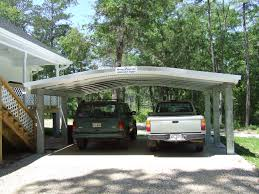 minimalist white nuance of the metal carport plans can be decor