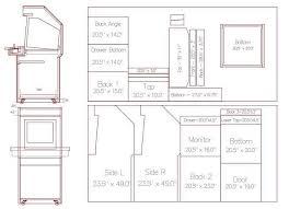 mame arcade cabinet kit arcade cabinet plans download aji