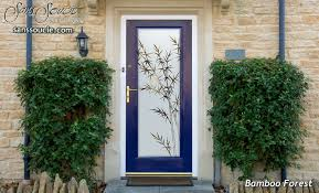 Exterior Doors Glass Bamboo Forest Etched Glass Front Doors Asian Decor