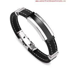 rubber stainless steel bracelet images Men 39 s stainless steel rubber belt men silver stainless steel jpg
