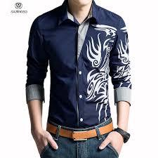 aliexpress com buy 2017 brand men shirt homme dragon printing