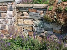 stone garden walls types of stone