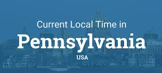 Where Is Pennsylvania On The Map by Current Local Time In Pennsylvania United States