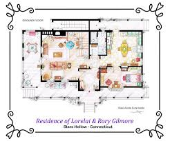 house of lorelai and rory gilmore ground floor by nikneuk on
