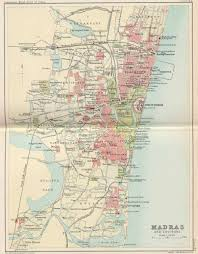 Chennai India Map by Historical Maps Of Indian Towns And Cities 1893 1909 1924