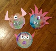 Halloween Crafts With Construction Paper Tie Dye Coffee Filter Monster Halloween Craft Feltmagnet