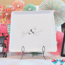 bridal shower autograph plate diy wedding guest book plate via the nerds bridal showers