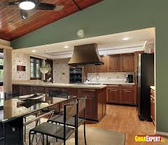 Counter Kitchen Design Open Modular Kitchen Interiors Design