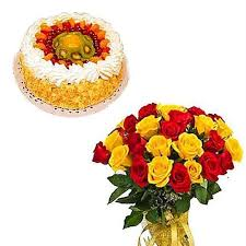 roses online buy cake n a bouquet of yellow n roses online best