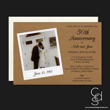 50th wedding anniversary suite invitation u2013 carben design studio