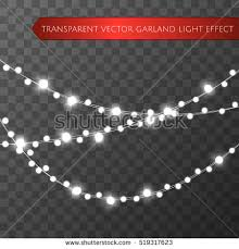 christmas lights isolated realistic design elements stock vector