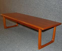 mid century modern bench with back mid century slat bench mid