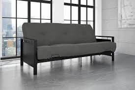 metal frame sofa bed metal frame futon sofa bed brainy dhp furniture henley metal arm
