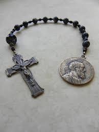 mens rosary st joseph pocket rosary catholic rosary chaplet confirmation