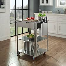 stainless steel kitchen island cart stainless steel kitchen cart for small space home design