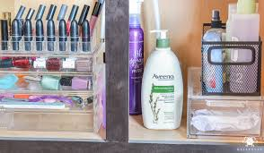 Organizing Bathroom Drawers Vanity Makeup Drawer And Bathroom Cabinet Organization Kelley Nan