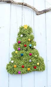 pom pom christmas tree diy wall hanging pillar box blue