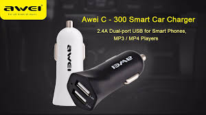 Car Charger With Usb Ports Awei C300 Car Charger Dual Usb Port Black
