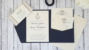 nautical wedding invitations handmade wedding invitations pocketfold invitations nautical