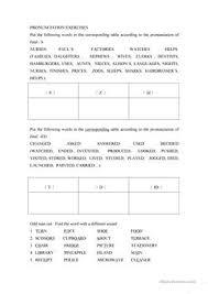 30 free esl ed pronunciation worksheets