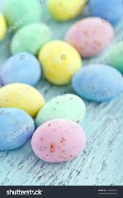 pastel easter eggs small chocolate pastel easter eggs on stock photo 129674039
