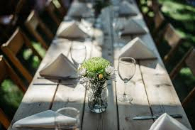 rustic outdoor picnic tables rustic outdoor wedding table setting with wooden picnic tables and